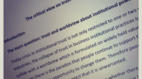 The Critical View on Trust in Institutions
